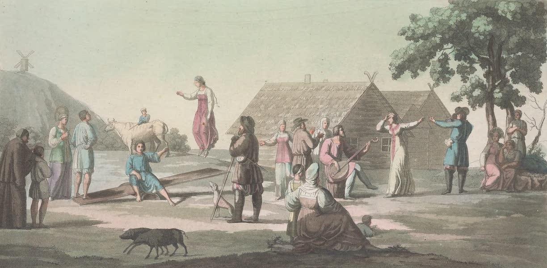 Le Costume Ancien et Moderne [Europe] Vol. 6 - XVI. Danse russe (1827)