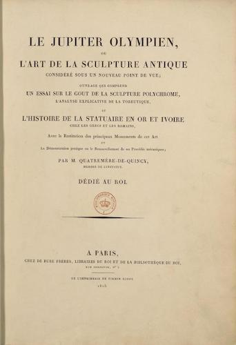 French - Le Jupiter Olympien