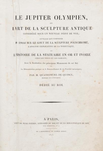 Le Jupiter Olympien - Title Page (1815)