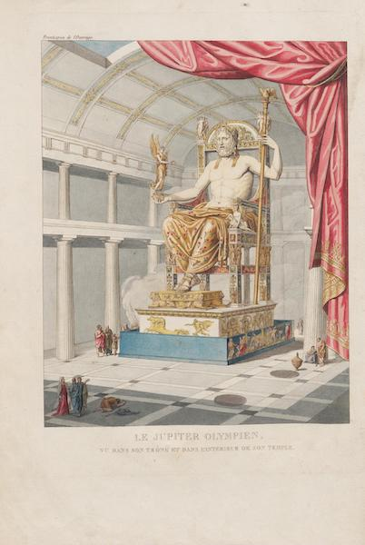 Le Jupiter Olympien - Le Jupiter Olympien vu dans son trône et dans l'intérieur de son temple [Frontispice] (1815)