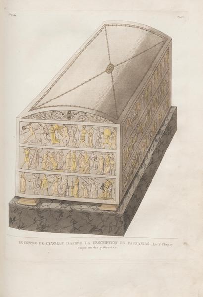 Le Jupiter Olympien - Pl. IV. Le coffre de Cypsélus, vu par un des petits côtés (1815)