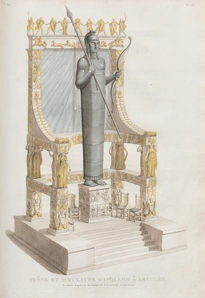 Le Jupiter Olympien - Pl. VII. Trône et simulacre d'Apollon a Amyclée (1815)