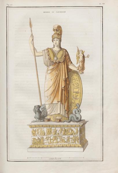 Le Jupiter Olympien - Pl. VIII. Restitution de la Minerve d'or et d'ivoire du Parthénon (1815)