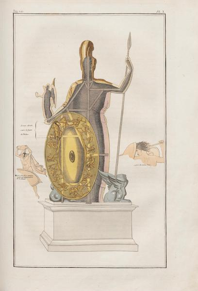 Le Jupiter Olympien - Pl. X. Vue des mêmes par derrière, avec le bouclier (1815)