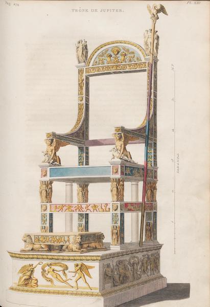 Le Jupiter Olympien - Pl. XIII. Trône de Jupiter à Olympie (1815)