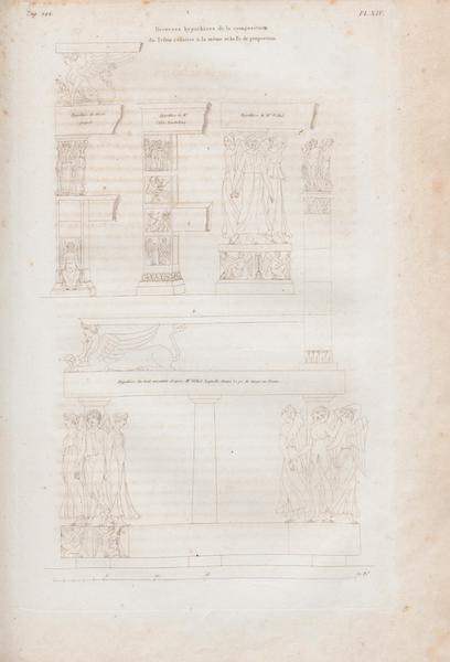 Le Jupiter Olympien - Pl. XIV. Diverses hypothèses du trône de Jupiter (1815)