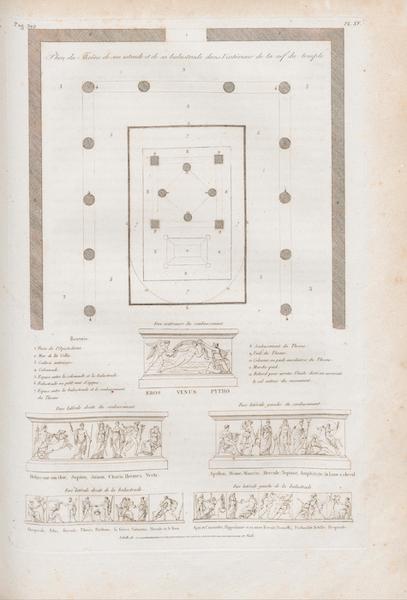 Le Jupiter Olympien - Pl. XV. Plan du trône, de son estrade et de sa balustrade, etc. (1815)