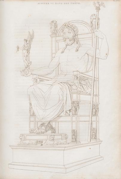 Le Jupiter Olympien - Pl. XVI. Jupiter vu dans son trône (1815)