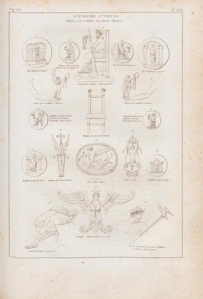 Le Jupiter Olympien - Pl. XVII. Autorités a l'appui de la restitution du trône du Jupiter (1815)