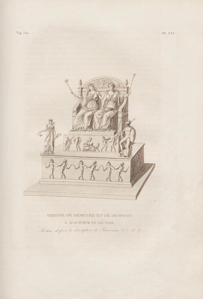 Le Jupiter Olympien - Pl. XXI. Trône de Déméter et de Despoina a Acacesium, restitué, etc. (1815)