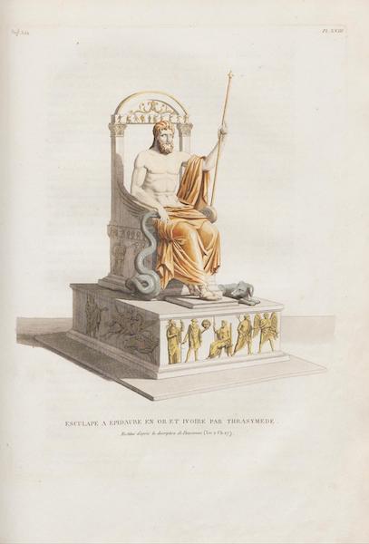 Le Jupiter Olympien - Pl. XXIII. Trône d'Esculape a épidaure, par Trasymède, restitué, etc. (1815)