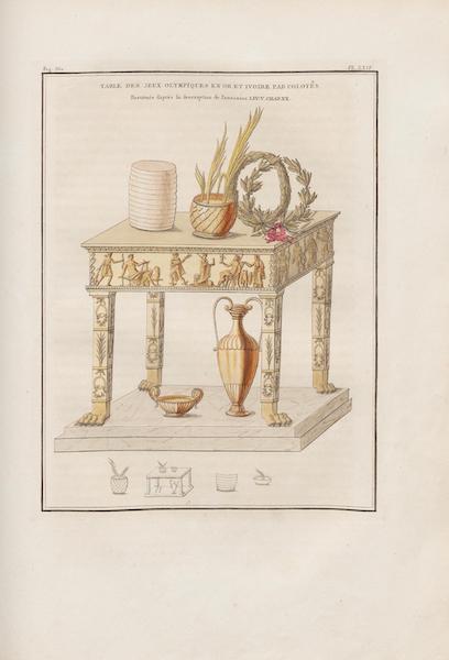 Le Jupiter Olympien - Pl. XXIV. Table des jeux olympiques, par Colotès, élève de Pasitèles, restituée, etc. (1815)
