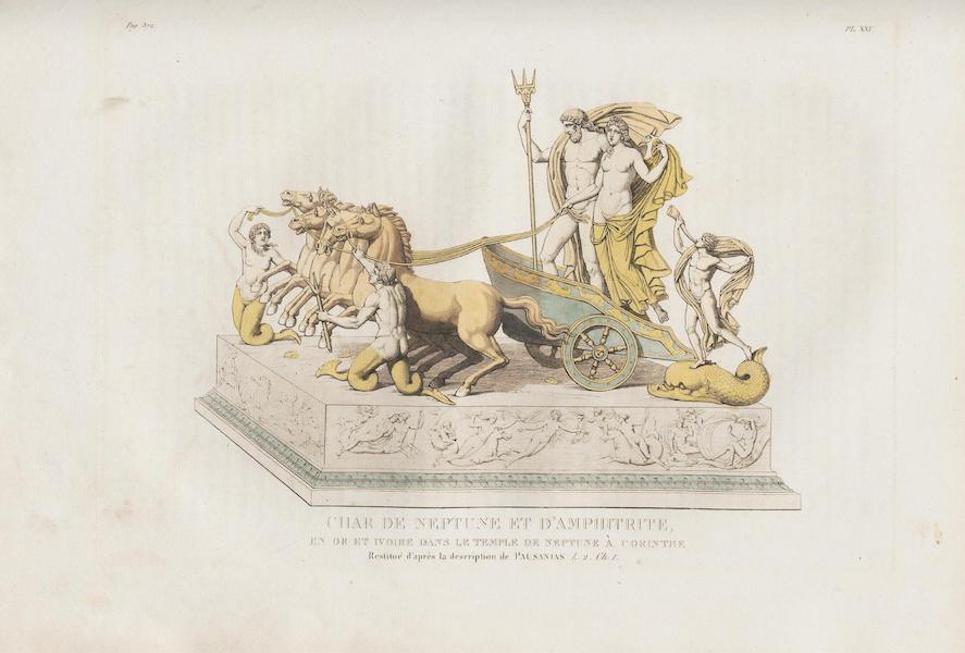 Le Jupiter Olympien - Pl. XXV. Char triomphal d'or et d'ivoire de Neptune a Corinthe, restitué, etc. (1815)