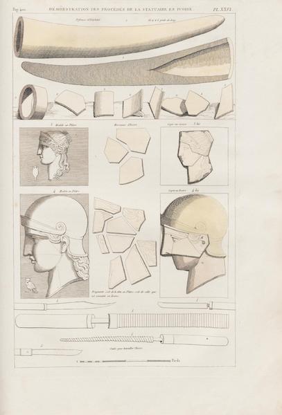Le Jupiter Olympien - Pl. XXVI. Démonstration des procédés de la statuaire en ivoire [I] (1815)