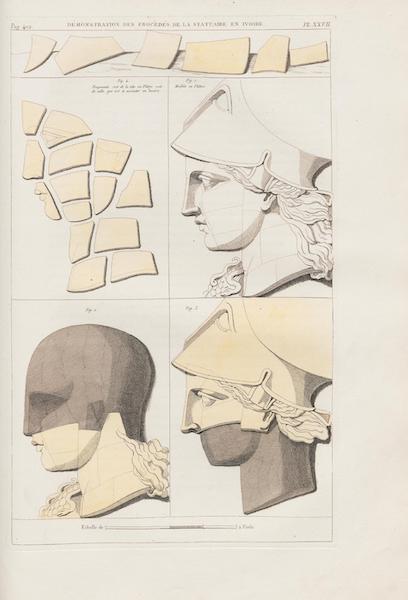 Le Jupiter Olympien - Pl. XXVII. Démonstration des procédés de la statuaire en ivoire [II] (1815)