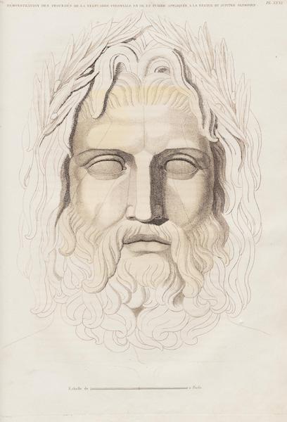 Le Jupiter Olympien - Pl. XXXI. Démonstration des procédés, etc., idem. (1815)