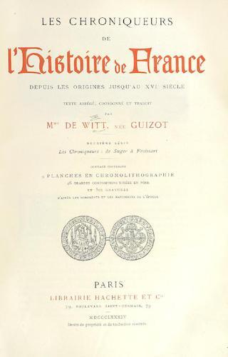 French - Les Chroniqueurs de l'Histoire de France Vol. 2