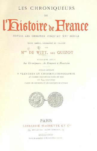 French - Les Chroniqueurs de l'Histoire de France Vol. 3