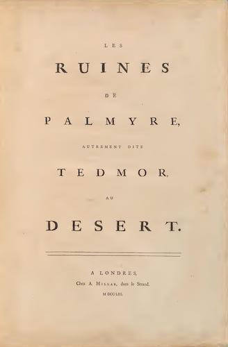 Aquatint & Lithography - Les Ruines de Palmyre