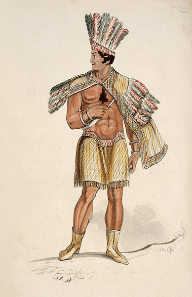 Letters from Buenos Ayres and Chili - A Cacique in his dress of ceremony (1819)