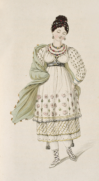 Letters from Buenos Ayres and Chili - A lady of Lima, in her wedding dress (1819)