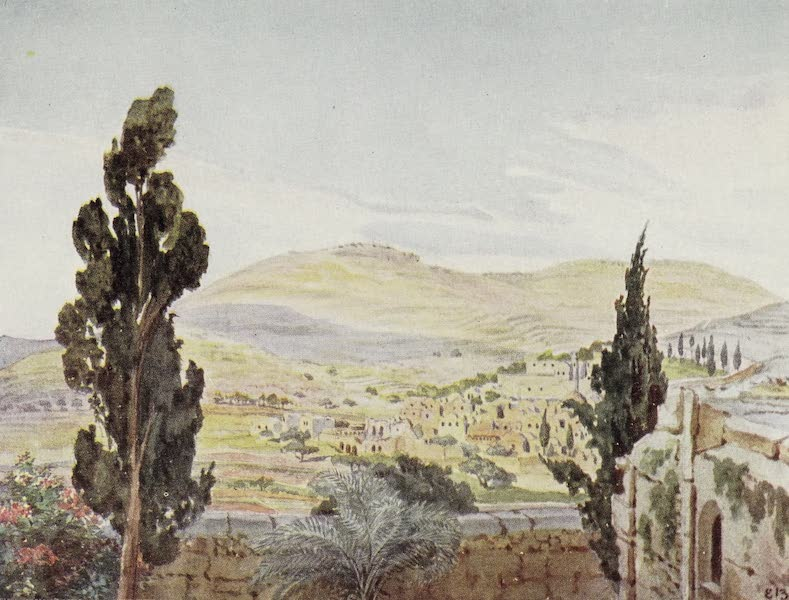 Letters from the Holy land - Ain Kareem,reputed birthplace of John the Baptist, from roof of Convent of the Visitation (1906)