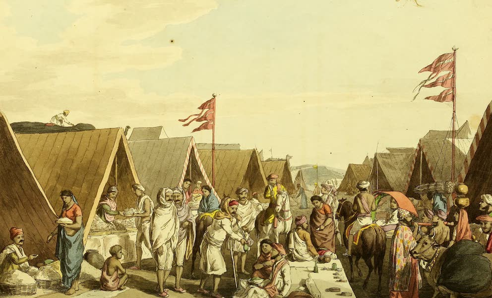 Letters Written in a Mahratta Camp - A Bazaar in Seedhiyas Camp (1813)