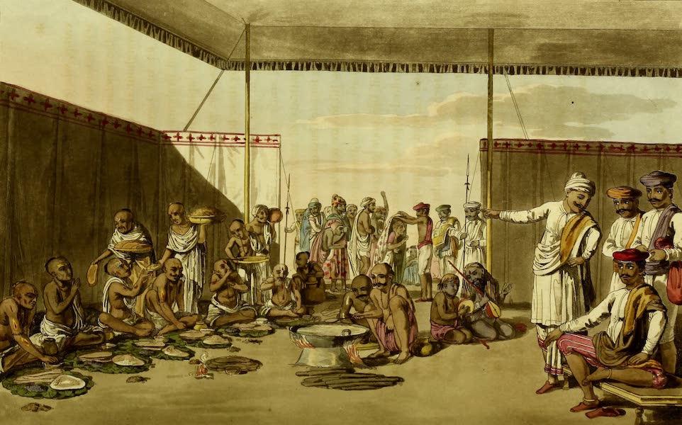 Letters Written in a Mahratta Camp - A Mahratta Sundar Entertaining Brahmins (1813)