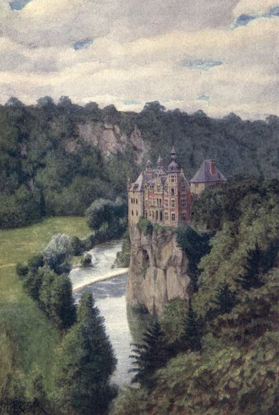Liege and the Ardennes, Painted and Described - Chateau de Walzin, in the Lesse Valley (1908)