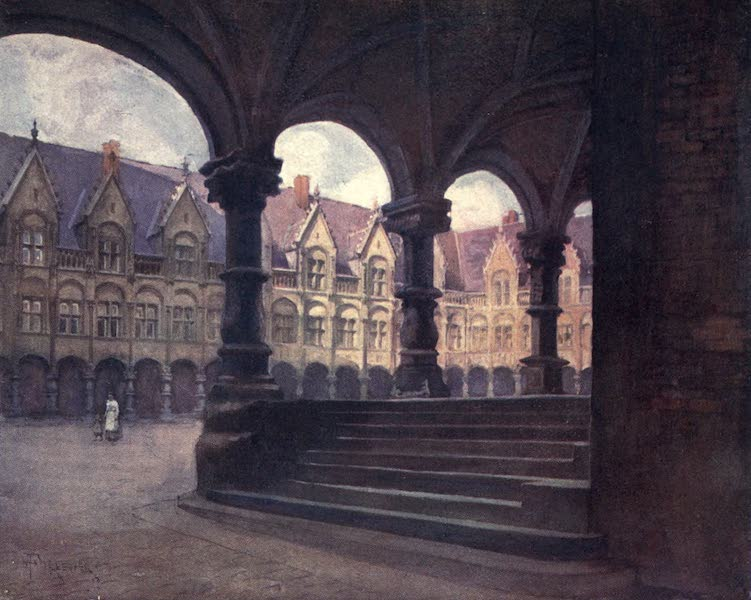 Liege and the Ardennes, Painted and Described - The Episcopal Palace - Outer Court, Liege (1908)