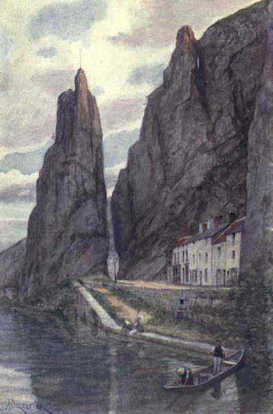 Liege and the Ardennes, Painted and Described - Le Rocher Bayard, Dinant (1908)