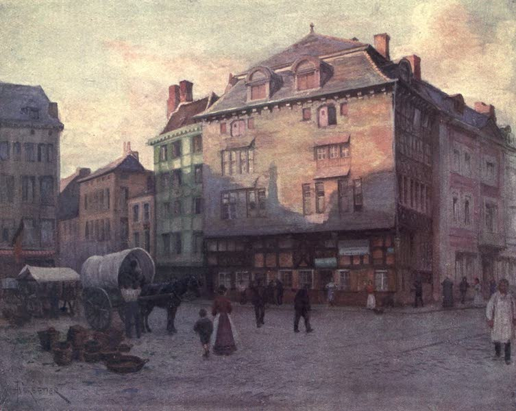 Liege and the Ardennes, Painted and Described - Old House of the Quai de la Goffe, Liege (1908)