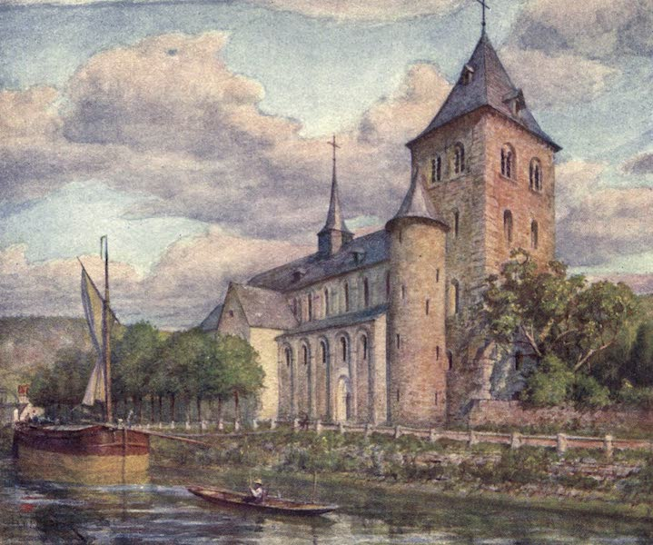 Liege and the Ardennes, Painted and Described - The Romanesque Church, Hastiere (1908)