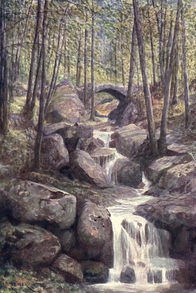 Liege and the Ardennes, Painted and Described - Pont du Prophete, Promenade Meyerbeer, Spa Woods (1908)