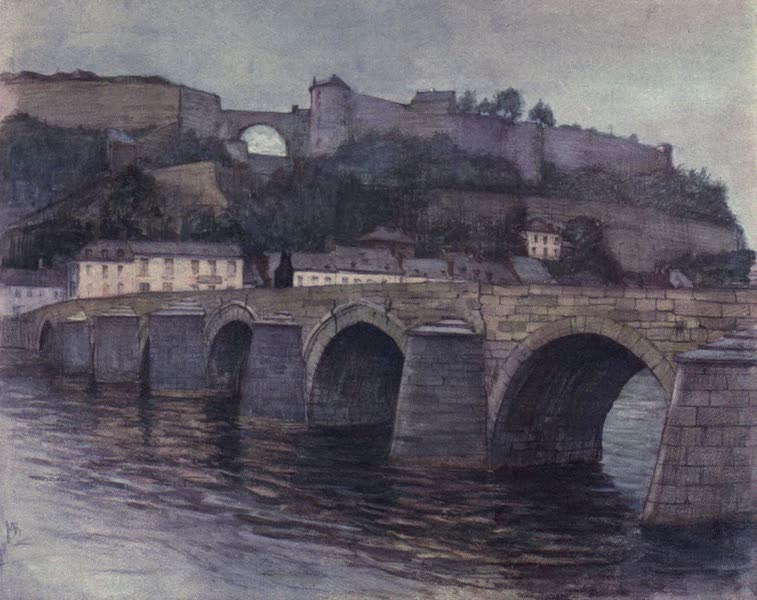 Liege and the Ardennes, Painted and Described - Pont de Jambes et Citadelle, Namur (1908)