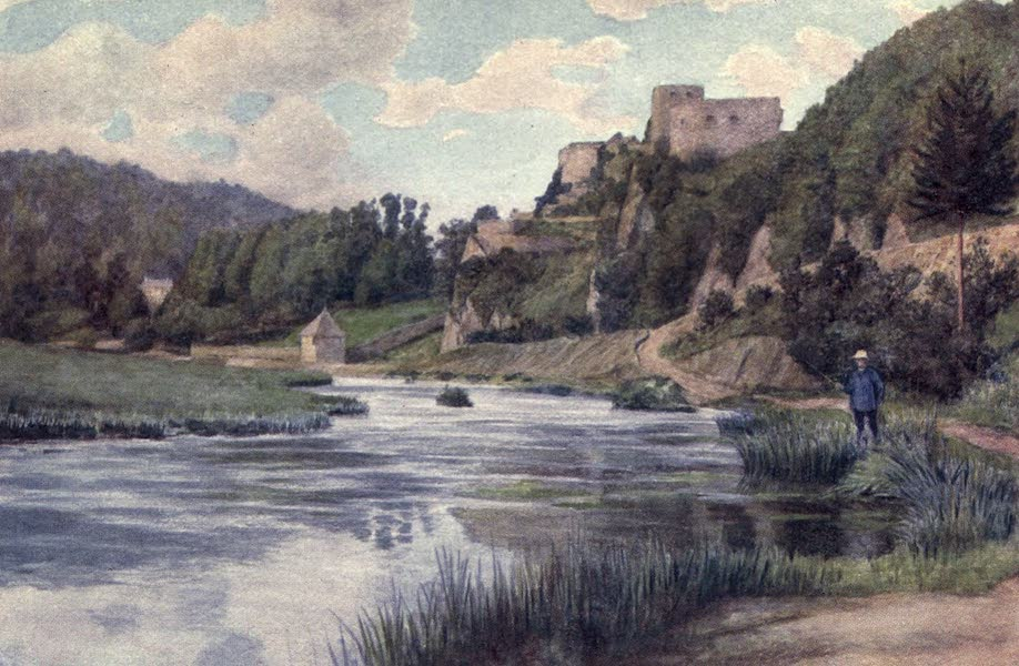 Liege and the Ardennes, Painted and Described - Chateau de Bouillon, in the Semois Valley (1908)