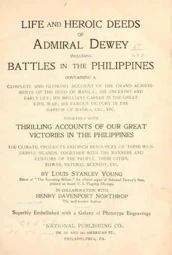Life and Heroic Deeds of Admiral Dewey - Title Page (1899)