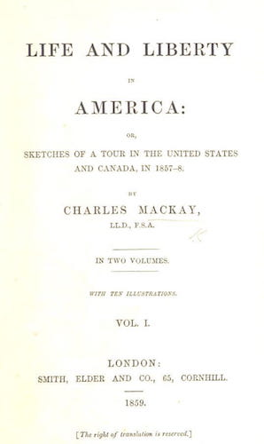 English - Life and Liberty in America Vol. 1