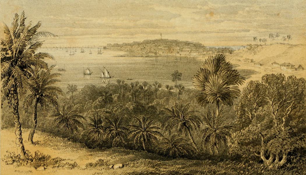 Life in Bombay - Fort of Bombay from Belmont (1852)