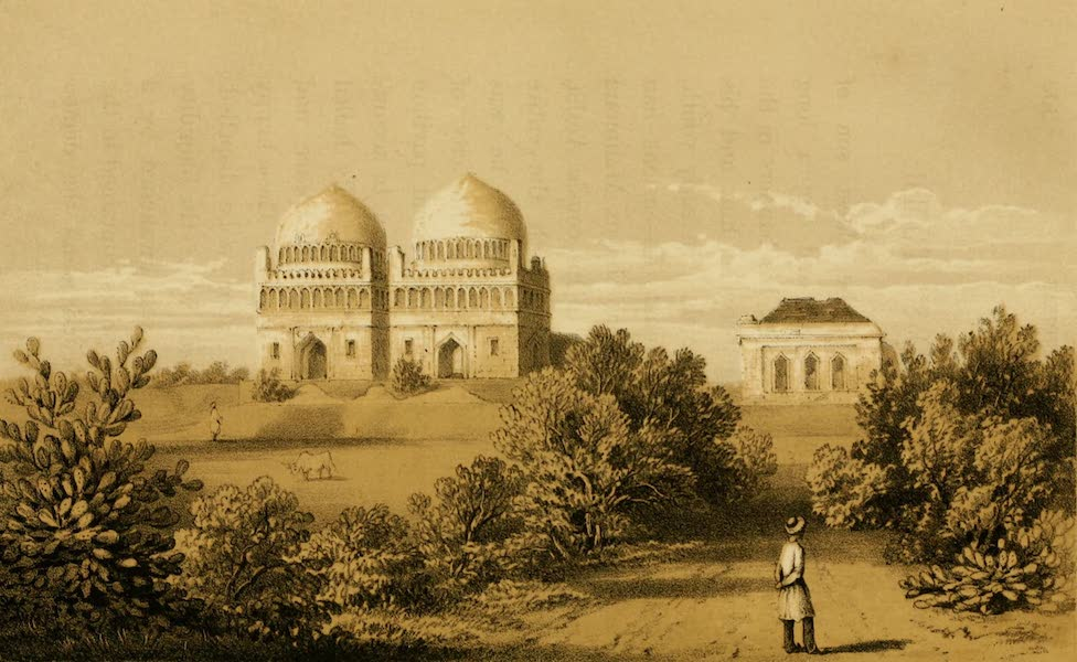 Life in Bombay - The Sister's Tomb, Ahmednuggur (1852)