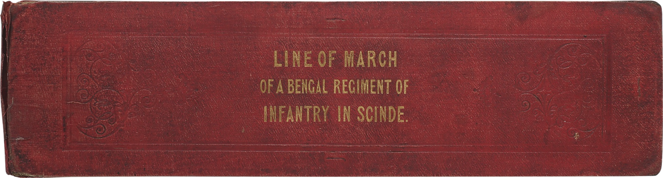 Line of March of a Bengal Regiment of Infantry - Front Cover (1840)