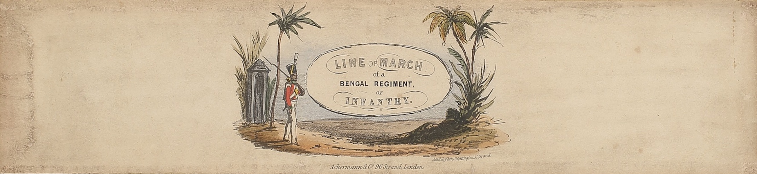 Line of March of a Bengal Regiment of Infantry - Title Page (1840)