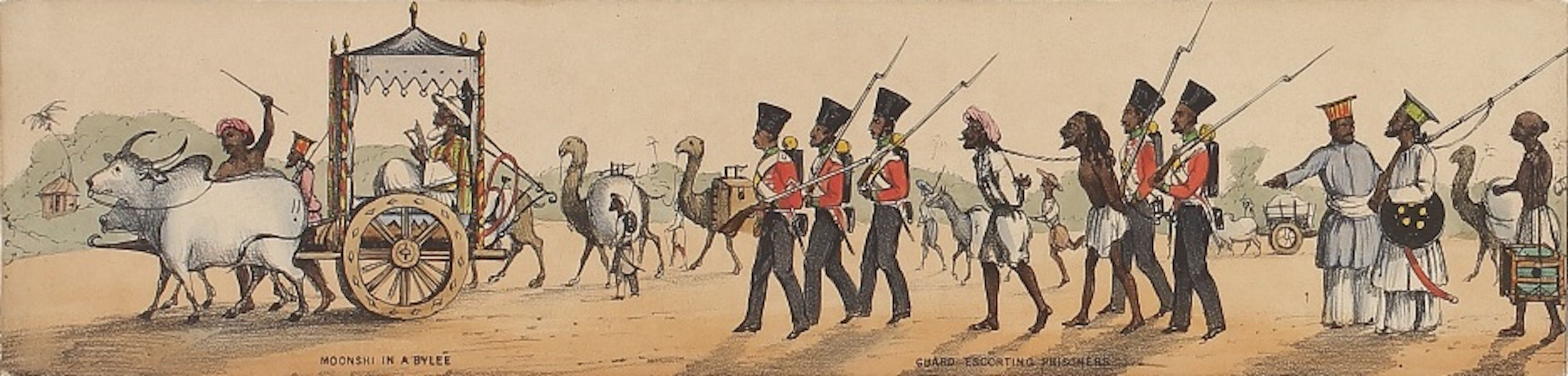 Line of March of a Bengal Regiment of Infantry - Panorama IX (1840)