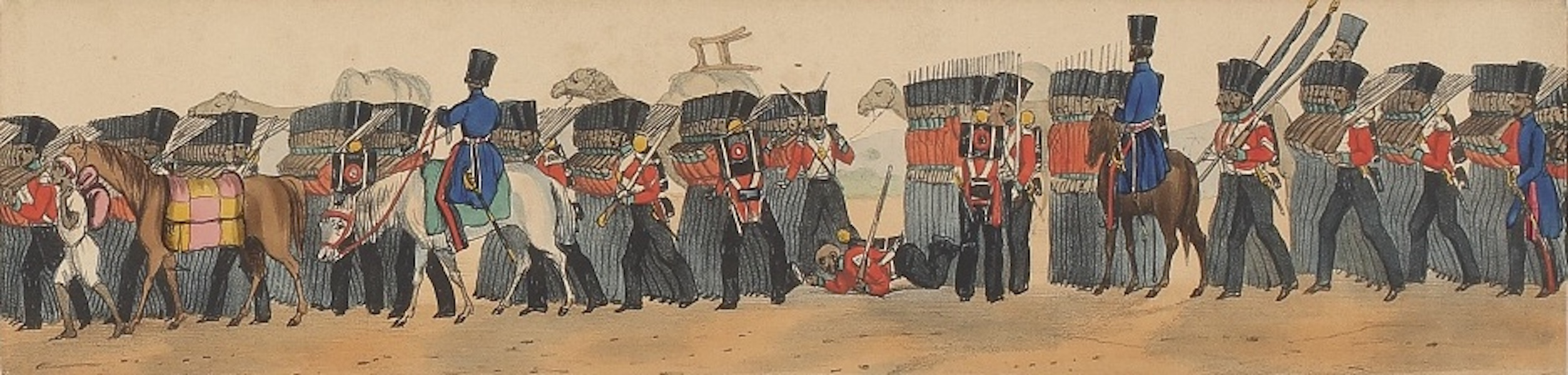 Line of March of a Bengal Regiment of Infantry - Panorama XVIII (1840)