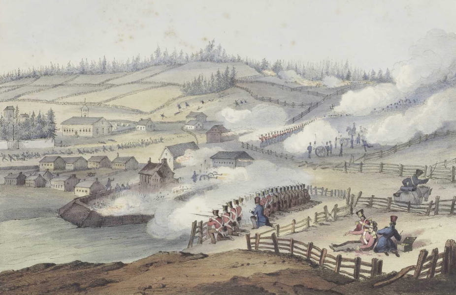 Lithographic Views of Military Operations in Canada - Attack on Saint-Charles (1840)