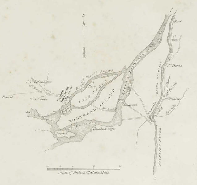 Lithographic Views of Military Operations in Canada - Explanatory Sketch of Col. Gores Operations at St. Denis (II) (1840)