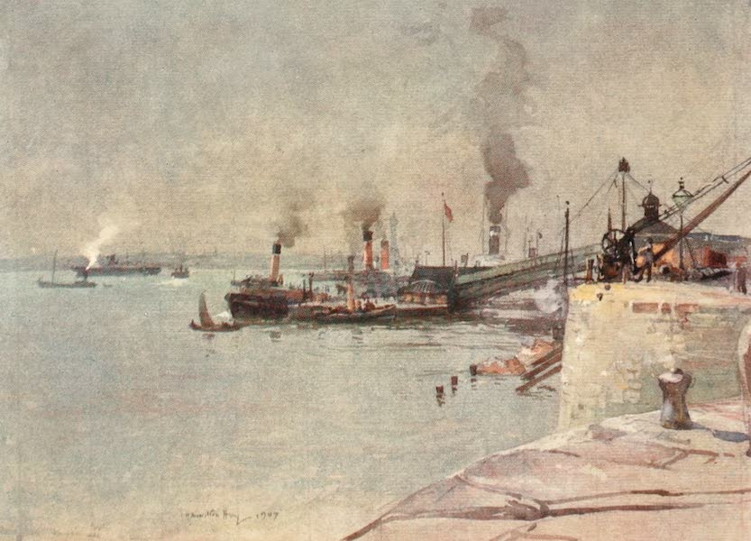 Liverpool Painted and Described - The Landing-stage, South End (1907)