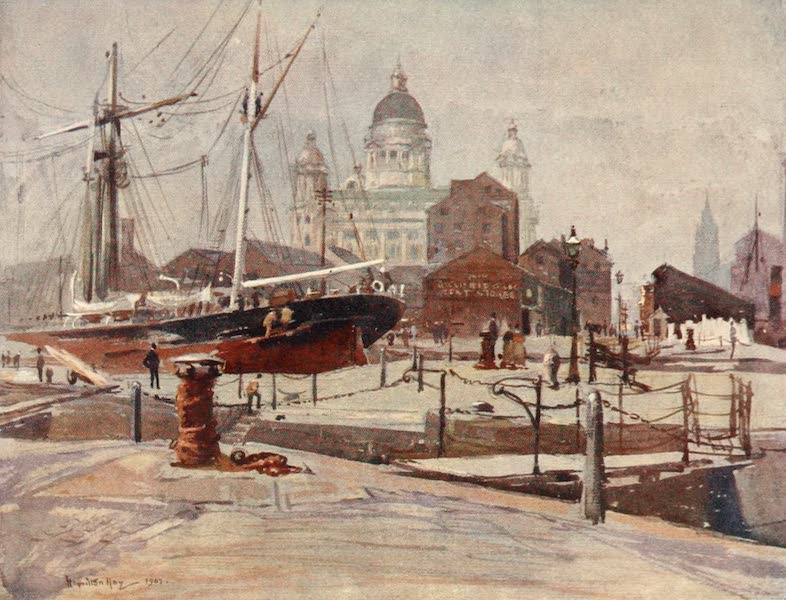 Liverpool Painted and Described - The Dock Board Offices from the Canning Graving Dock (1907)