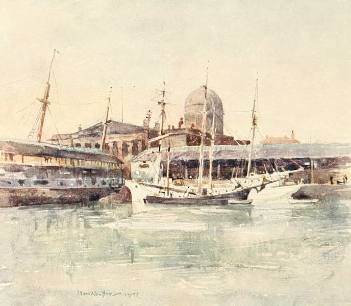 Liverpool Painted and Described - Custom House from the Salthouse Dock (1907)
