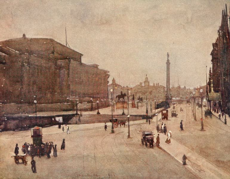 Liverpool Painted and Described - Lime Street With Wellington Monument (1907)